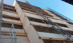 Rehabilitación de fachadas chorro de arena